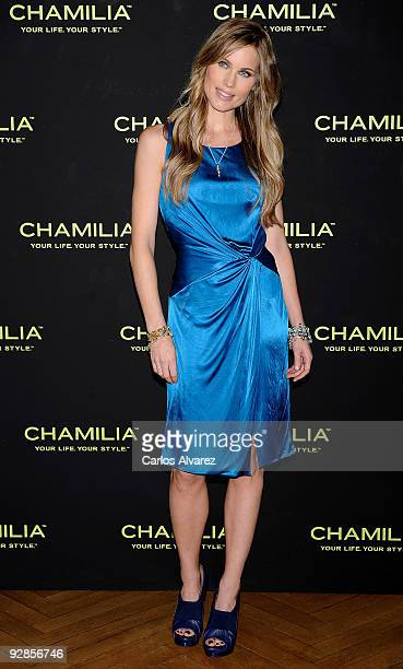Model Helen Swedin launches new 'Chamilia' Jewelry Collection at Santo Mauro Hotel on November 6 2009 in Madrid Spain