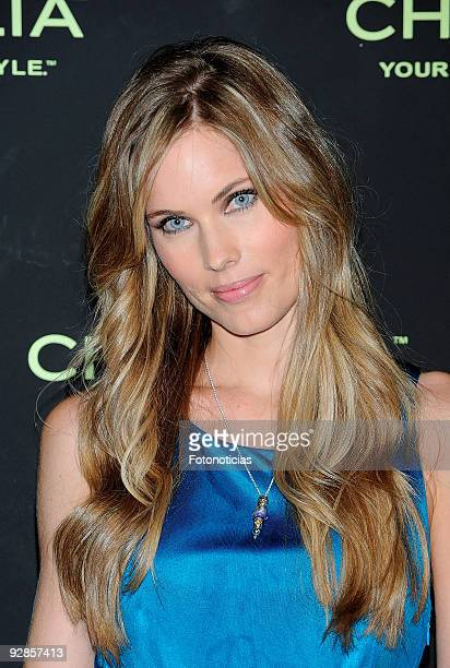 Model Helen Swedin launches the new 'Chamilia' jewellry collection at the Santo Mauro Hotel on November 6 2009 in Madrid Spain