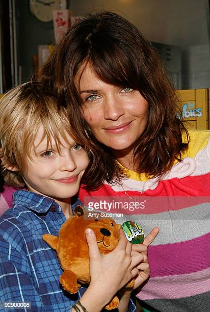 """Model Helena Christensen and her son Mingus Lucien Reedus attend a screening of """"Fantastic Mr. Fox"""" at Tribeca Cinemas on November 8, 2009 in New..."""