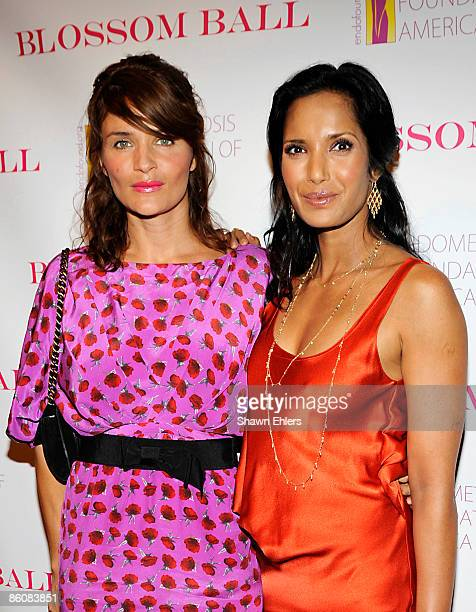Model Helena Christensen and TV Personality Padma Lakshmi attends the 1st Annual Blossom Ball at the Prince George Ballroom on April 20 2009 in New...