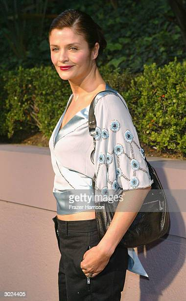 Model Helena Christensen arrives at Miramax's Annual Max Awards PreOscar party held at the Regis Hotel on February 28 2004 in Beverly Hills California