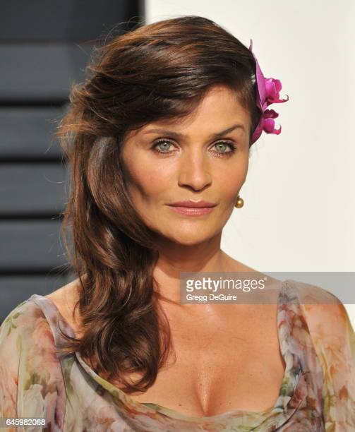 Model Helena Christensen arrives at the 2017 Vanity Fair Oscar Party Hosted By Graydon Carter at Wallis Annenberg Center for the Performing Arts on...