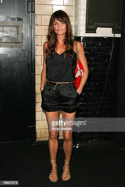 Model Helena Christensen arrives at the Marc Jacobs fashion show at the New York State Armory during the MercedesBenz Fashion Week Spring 2008 on...