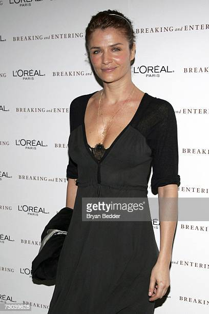 Model Helena Christensen arrives at the premiere of Breaking And Entering at the Paris theater on January 18 2007 in New York City