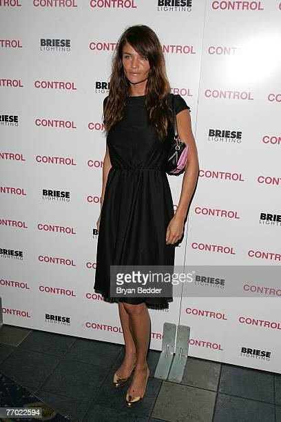 Model Helena Christensen arrives at the Weinstein Company premiere of Control at the Chelsea West theater on September 25 2007 in New York City