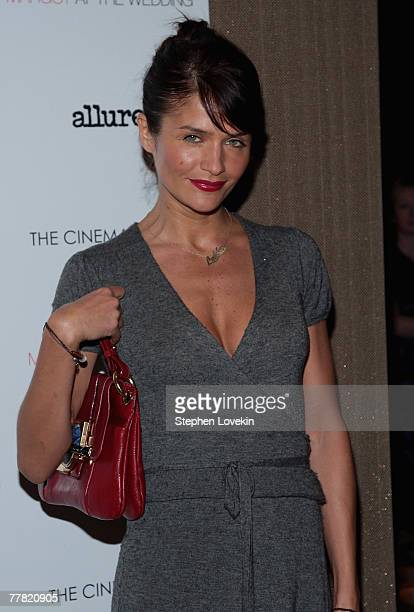 Model Helena Christensen attends a screening of Margot At The Wedding hosted by The Cinema Society and Linda Wells at The Tribeca Grand Hotel on...
