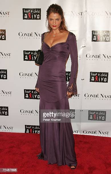 Model Helena Christensen attends The Black Ball presented by Conde Nast Media Group and hosted by Alicia Keys and Iman to benefit Keep A Child Alive...