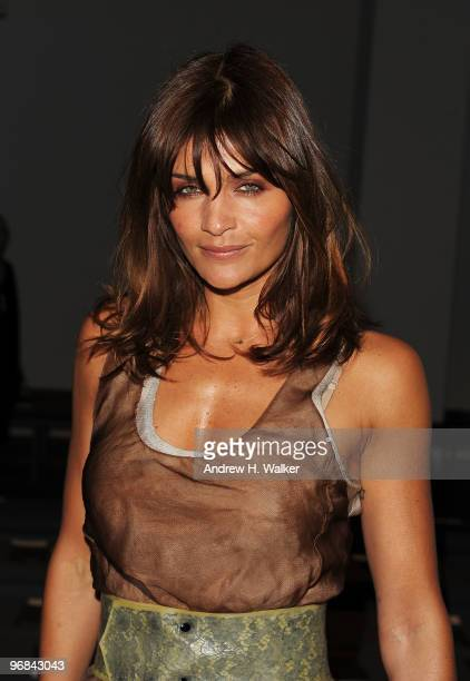 Model Helena Christensen attends the Calvin Klein Fall 2010 Fashion Show during Mercedes-Benz Fashion Week at 205 West 39th Street on February 18,...