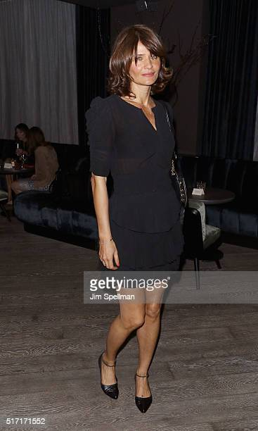 Model Helena Christensen attends The Cinema Society with Ketel One and Robb Report host a screening of Sony Pictures Classics' 'Miles Ahead' after...