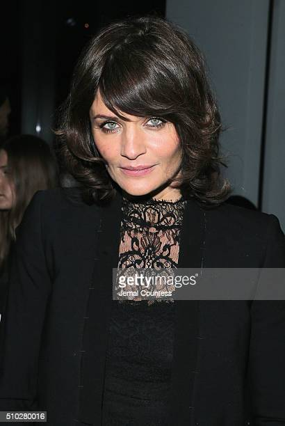 Model Helena Christensen attends the Edun Fall 2016 fashion show during New York Fashion Week on February 14 2016 in New York City