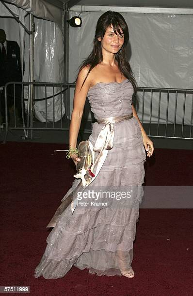 Model Helena Christensen attends the Metropolitan Museum of Art Costume Institute Benefit Gala 'AngloMania Tradition and Transgression in British...