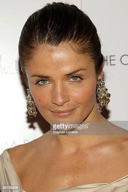 Model Helena Christensen attends the New York premiere of Married Life presented by The Cinema Society at the Tribeca Cinemas on March 5 2007 in New...