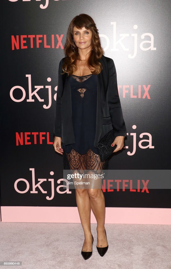 Model Helena Christensen attends The New York premiere of 'Okja' hosted by Netflix at AMC Lincoln Square Theater on June 8, 2017 in New York City.
