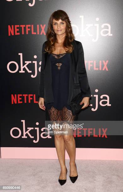 Model Helena Christensen attends The New York premiere of 'Okja' hosted by Netflix at AMC Lincoln Square Theater on June 8 2017 in New York City