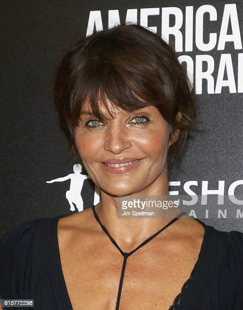 Model Helena Christensen attends the screening Of 'American Pastoral' hosted by Lionsgate and Lakeshore Entertainment with Bloomberg Pursuits at...