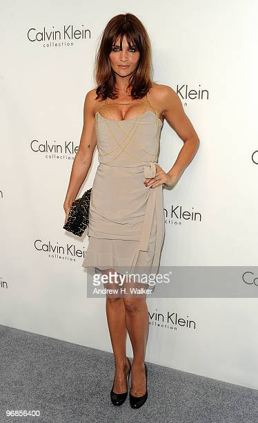 Model Helena Christensen attends the Women's Fall 2010 Calvin Klein Collection after party on February 18, 2010 in New York City.