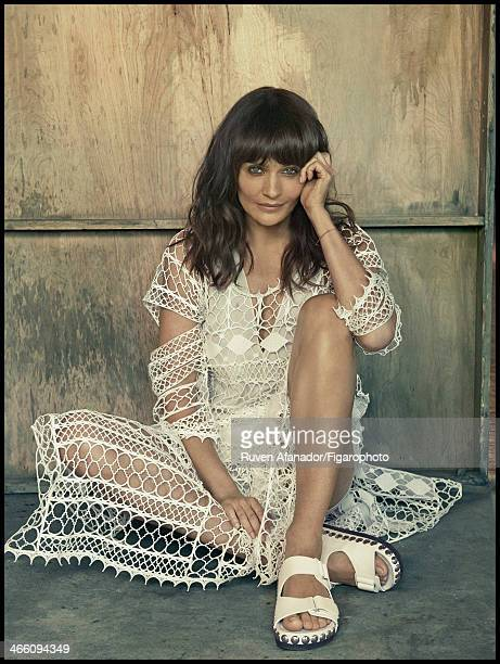 108682012 Model Helena Christensen is photographed for Madame Figaro on December 13 2013 in New York City Dress sandals CREDIT MUST READ Ruven...