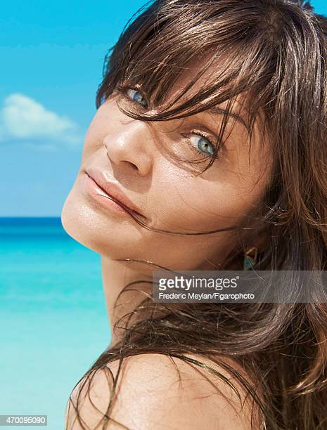 Model Helena Christensen is photographed for Madame Figaro on March 20 2015 in Guadeloupe Saint Martin Beauty by Dior CREDIT MUST READ Frederic...