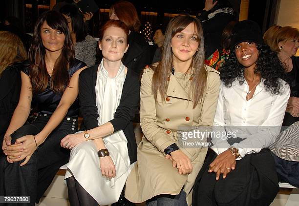 Model Helena Christensen Julianne Moore Maggie Gyllenhaal and Kelly Rowland attend Tommy Hilfiger runway show during MercedesBenz Fashion Week Fall...