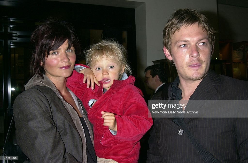 Model Helena Christensen Son Mingus 2 1 And Husband Norman Reedus