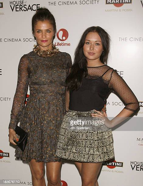 Model Helena Christensen with Niece attend the Marvista Entertainment Lifetime with The Cinema Society screening of House of Versace at Museum of...