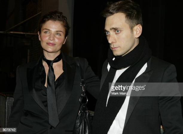 Model Helena Christiensen and designer Hedi Slimane attend the Dior Homme Concert and Party in honor of the Dior Homme Store Opening on March 10th...