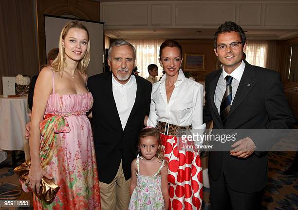 Model Helena Houdova actor Dennis Hopper daughter Galen Grier Hopper Victoria Hopper and Betlef Barthelmes attend the Maybach Family Foundation...