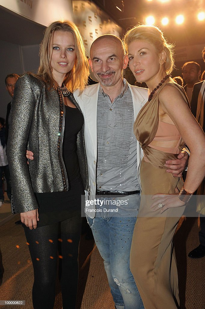 Model Helena Houdova, guest and Hofit Golan arrive at the Replay Party during the 63rd Annual Cannes Film Festival at Style Star Lounge on May 19, 2010 in Cannes, France.