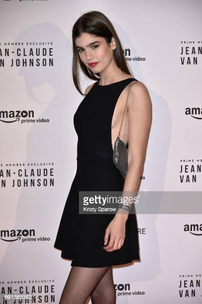 Model Helena Sofia attends the Amazon TV series 'Jean Claude Van Johnson' Premiere at Le Grand Rex on December 12 2017 in Paris France