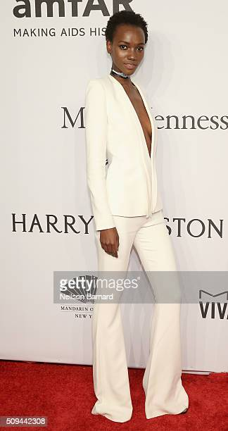 Model Herieth Paul attends the 2016 amfAR New York Gala at Cipriani Wall Street on February 10 2016 in New York City