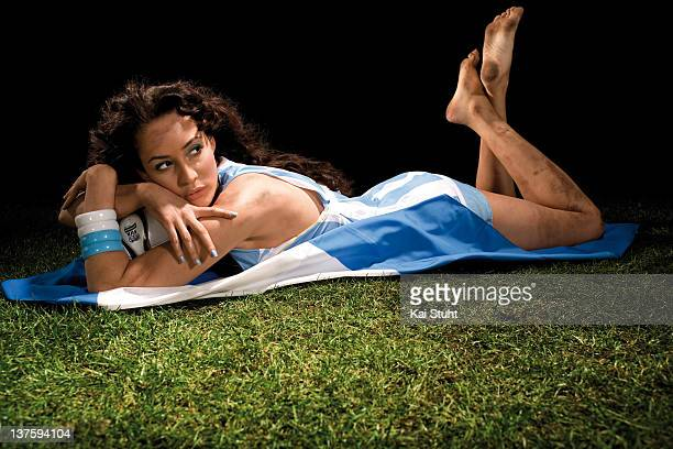 Model Heydi Nunez Gomez is photographed on February 22 2006 in Munich Germany