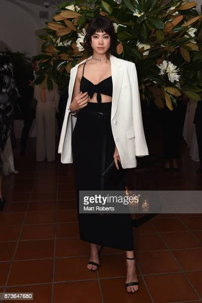 Model Hikari Mori attends the Michael Kors And Vogue Japan Celebrate Kate Hudson's Work With Watch Hunger Stop In Support Of The World Food Programme...