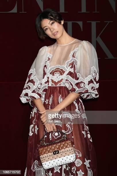 Model Hikari Mori attends the photocall for Valentino TKY 2019 Pre-Fall Collection at Terada Warehouse on November 27, 2018 in Tokyo, Japan.