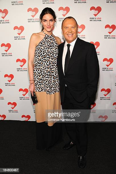 Model Hilary Rhoda and Designer Michael Kors attends God's Love We Deliver 2013 Golden Heart Awards Celebration at Spring Studios on October 16 2013...