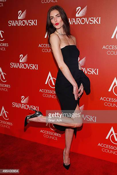 Model Hilary Rhoda attends 19th Annual Accessories Council ACE Awards on November 2 2015 in New York City