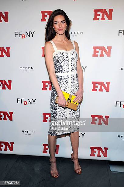Model Hilary Rhoda attends 2012 Footwear News Achievement Awards at MOMA on November 27 2012 in New York City