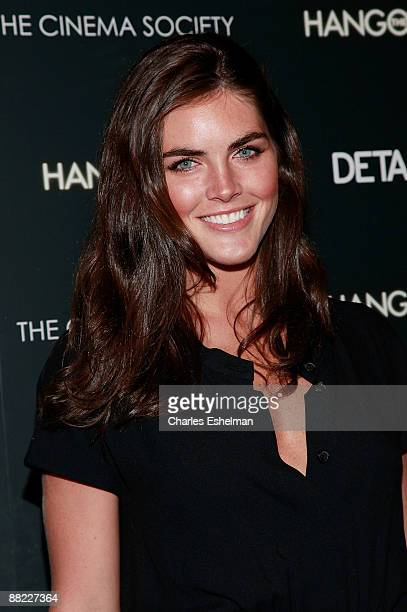 Model Hilary Rhoda attends a screening of The Hangover hosted by the Cinema Society and Details at the Tribeca Grand Screening Room on June 4 2009 in...