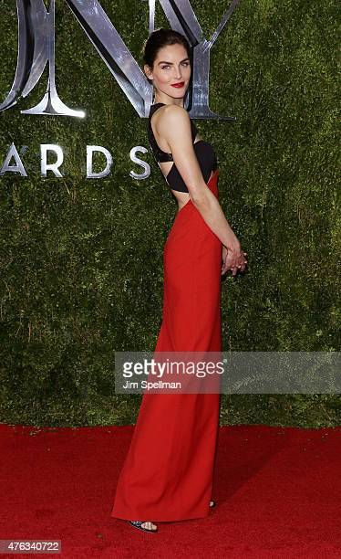 Model Hilary Rhoda attends American Theatre Wing's 69th Annual Tony Awards at Radio City Music Hall on June 7 2015 in New York City