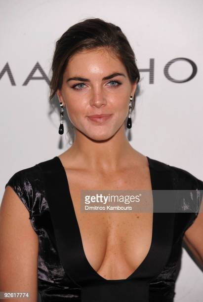 Model Hilary Rhoda attends the 13th Annual 2009 ACE Awards presented by the Accessories Council at Cipriani 42nd Street on November 2 2009 in New...