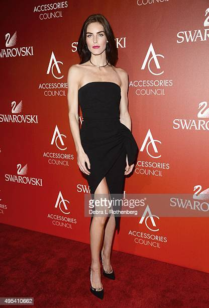 Model Hilary Rhoda attends the 19th Annual Accessories Council ACE Awards at Cipriani Wall Street on November 2 2015 in New York City