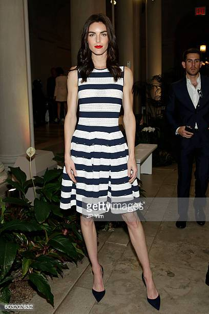 Model Hilary Rhoda attends the Carolina Herrera fashion show during New York Fashion Week on September 12 2016 in New York City