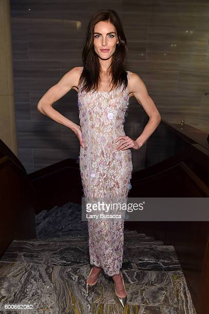 Model Hilary Rhoda attends The Daily Front Row's 4th Annual Fashion Media Awards at Park Hyatt New York on September 8 2016 in New York City