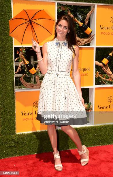 Model Hilary Rhoda attends the fifth annual Veuve Clicquot Polo Classic on June 2, 2012 in Jersey City.