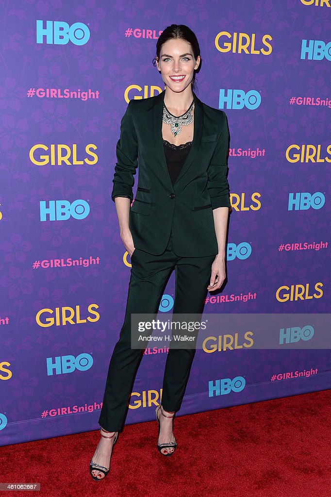 Model Hilary Rhoda attends the 'Girls' season three premiere at Jazz at Lincoln Center on January 6, 2014 in New York City.