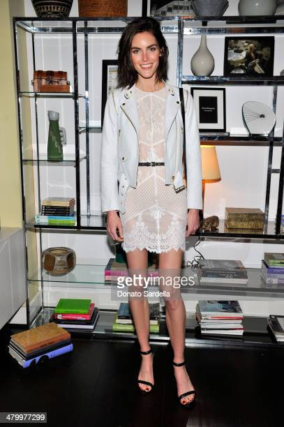Model Hilary Rhoda attends the Sandro Paris celebration at Chateau Marmont with a special performance by Polica at Chateau Marmont on March 20 2014...