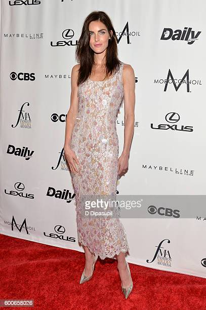 Model Hilary Rhoda attends the The Daily Front Row's 4th Annual Fashion Media Awards at Park Hyatt New York on September 8 2016 in New York City