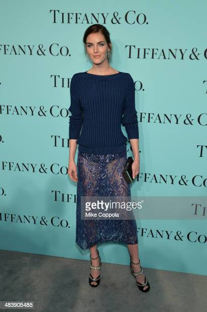 Model Hilary Rhoda attends the Tiffany Debut of the 2014 Blue Book on April 10 2014 at the Guggenheim Museum in New York United States