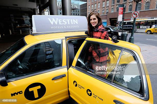 Model Hilary Rhoda suprises New Yorkers with a 'Holiday after the Holiday' by Westin Hotels and Resorts on November 24 2015 in New York City