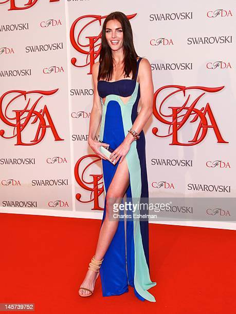 Model Hilary Rhodes attends 2012 CFDA Fashion Awards at Alice Tully Hall on June 4 2012 in New York City