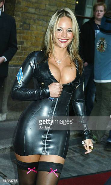 Model Holly Maguire arrives at the 11th annual Kerrang Awards 2004 at the Carling Academy Brixton on August 26 2004 in London The music awards hosted...